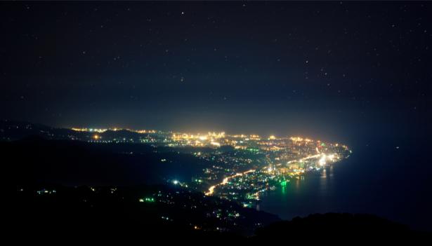 Фотообои ночь над городом (city-0001351)