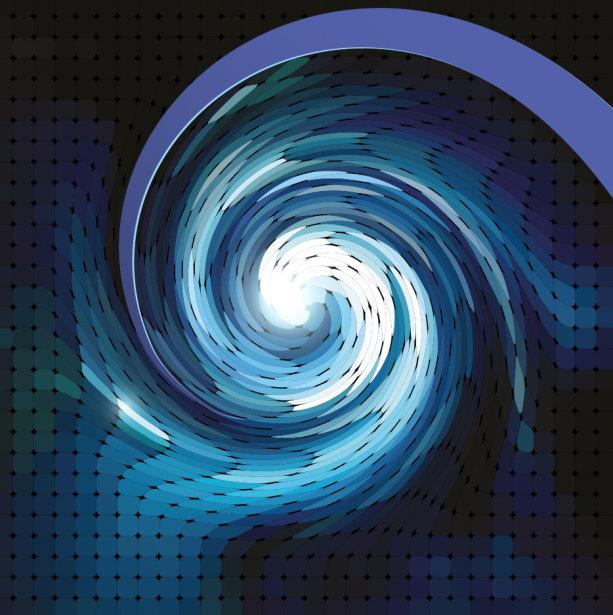 Фотообои техно спираль вращение (commercial-00024)