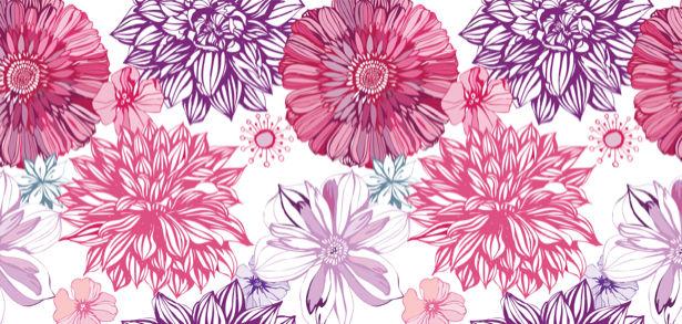 Обои Фон из рисованных цветов (flowers-0000116)