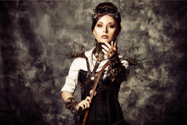 Фотообои стимпанк портрет девушка (glamour-0000216)