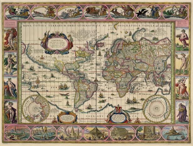атлас, география, карты, старая карта (map-0000154)