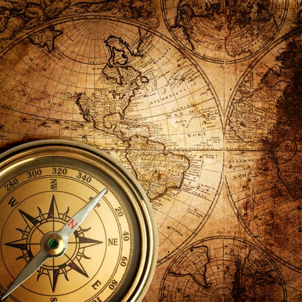 Фотообои печать старой карты компас (map-0000213)