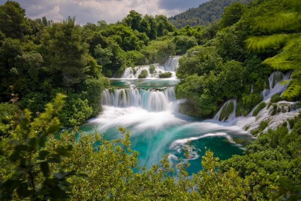 Фотообои природа горные водопады (nature-00378)