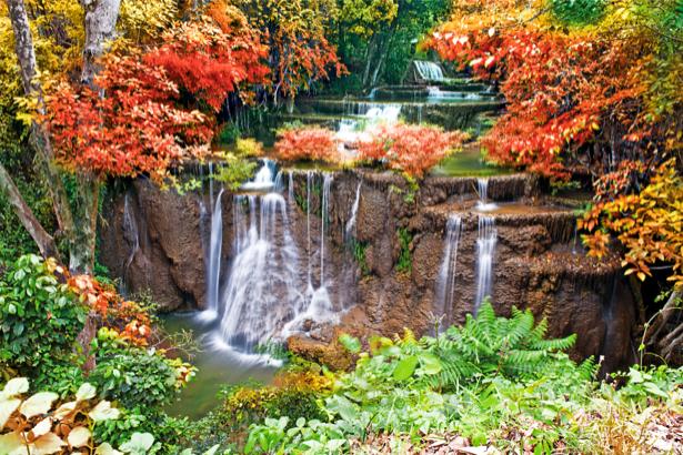 Фотообои водопад осенний (nature-00463)