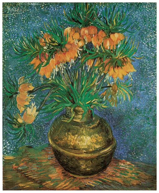 Fritillaries in a Copper Vase, Винсент Ван Гог (pf-53)