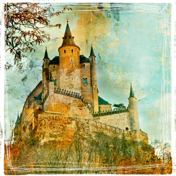 Фотообои замок винтажная фото (retro-vintage-0000134)