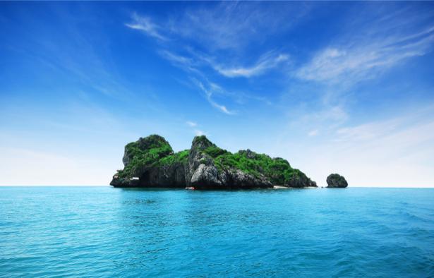 Фотообои красивый остров в море (sea-0000171)