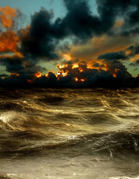 Фотообои море волны закат (sea-0000247)