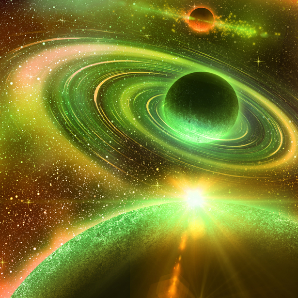 Фотообои следы планет (space-0000026)