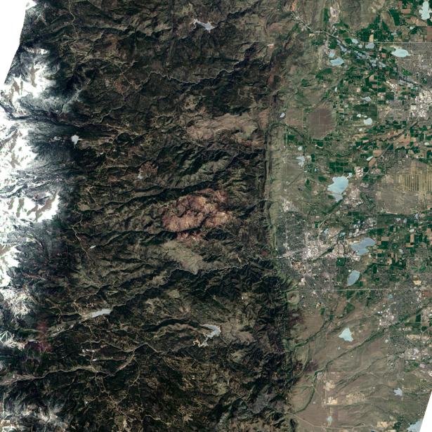 Фотообои 3д горы с верху (terra-00028)