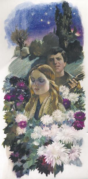 иллюстрации по книге В. Сосюры - Когда поезд в даль загрохочет ... (ukraine-0143)