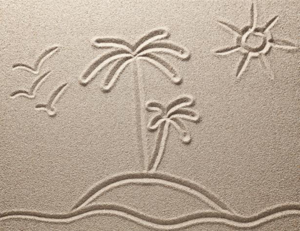 Фотообои для ванны рисунок на песке (underwater-world-00126)