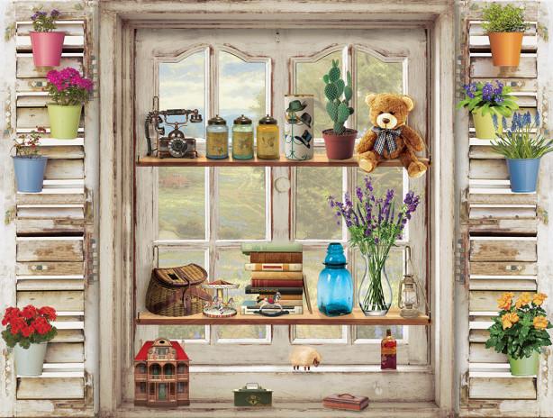 Фотообои дачное окно (win-27)