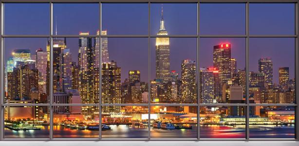 Фотообои Панорама Нью-Йорка с Гудзона (win-31)