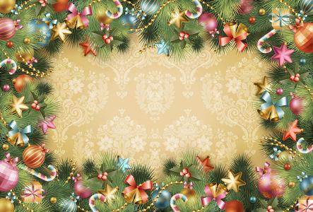 Скатерть Новогодние игрушки (0151)