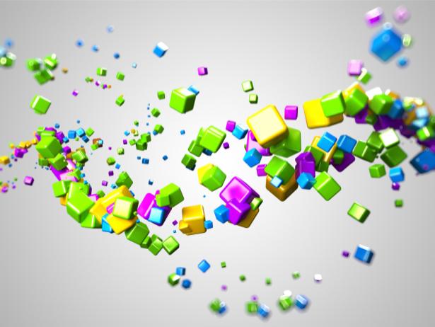 Фотообои кубики цветные (background-0000248)