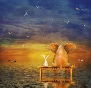 Фотообои посиделки у моря (child-449)