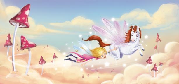 Детские фотообои летающая лошадка (children-0000343)