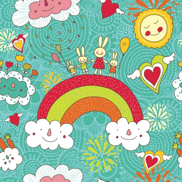 Фотошторы детская радуга (children-curtain-00008)