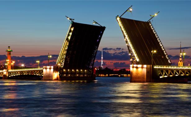 Фотообои мост белые ночи (city-0000075)
