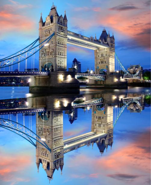 Фотообои Англия река Темза Тауэрский мост (city-0000152)