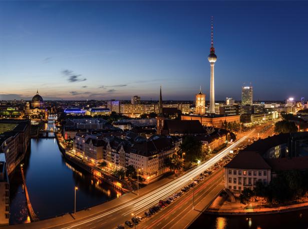 Фотообои вечерний берлин (city-0001094)