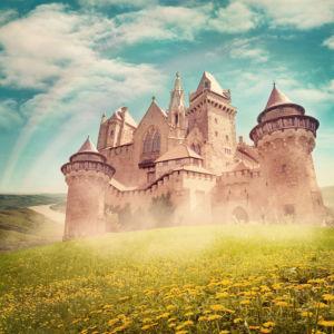 Замок принцессы - Детские фотообои (city-0001395)