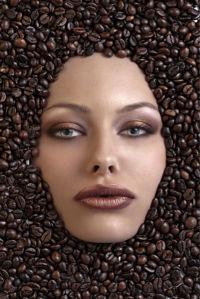 Фотообои в кухню кофе и лицо (food-0000284)