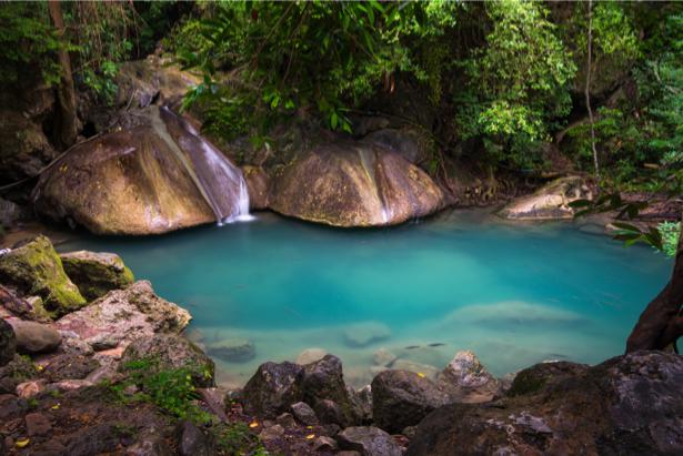 Фотообои водопад озеро лагуна (nature-0000718)