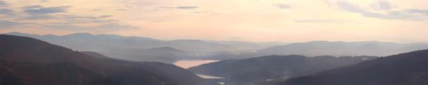 Фотообои рассвет на горном озере (nature-00259)