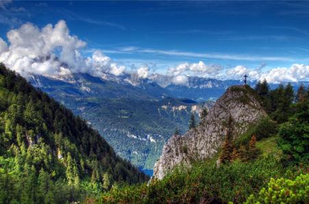 Фотообои облака тайга горы (nature-00477)