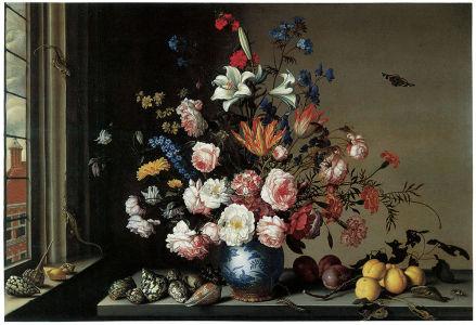 картина композиция цветы (pf-4)