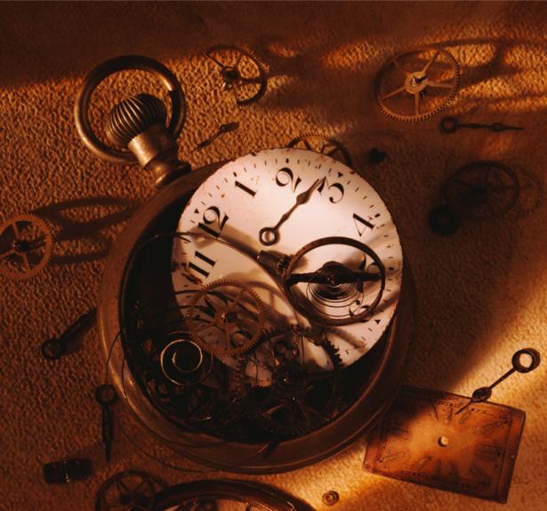 Фотообои разобранные часы (retro-vintage-0000039)