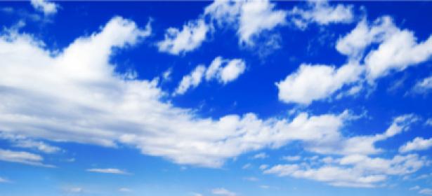 Небо фотообои с облаками (sky-0000029)