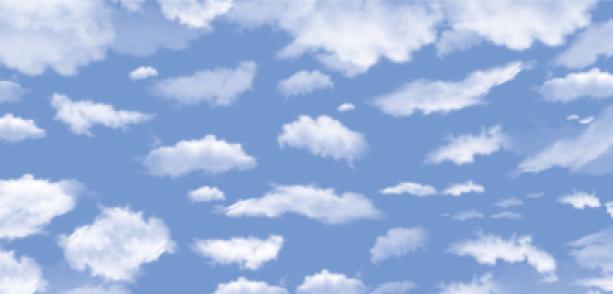 Фотообои перьевые облака в небе (sky-0000064)