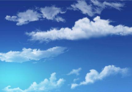 Фотообои голубое небо с облаками 2 (sky-0000110)