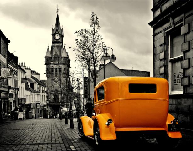 Фотообои ретро авто лондон (transport-0000087)
