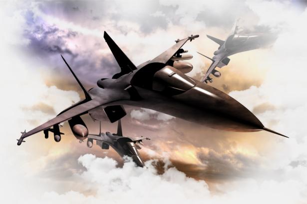Фотообои самолет штурмовик (transport-0000248)