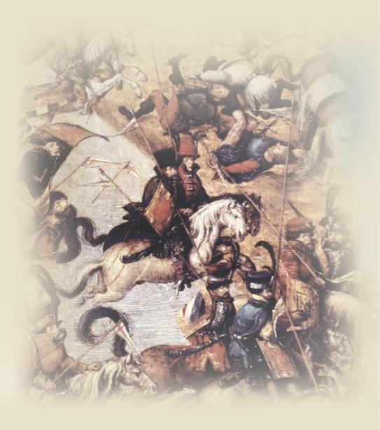 К. Острожский с польским королем Стефаном Баторием в походе во время Лионской войны против Московии (ukraine-0073)
