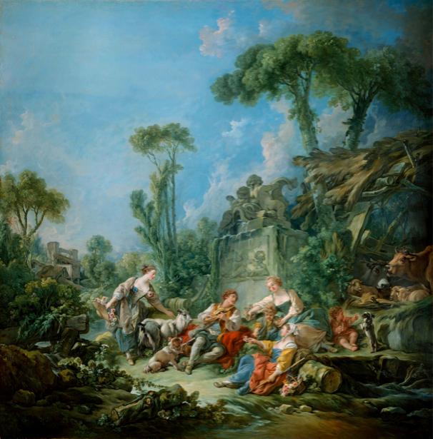 Франсуа Буше, жанровая композиция (art-0000132)