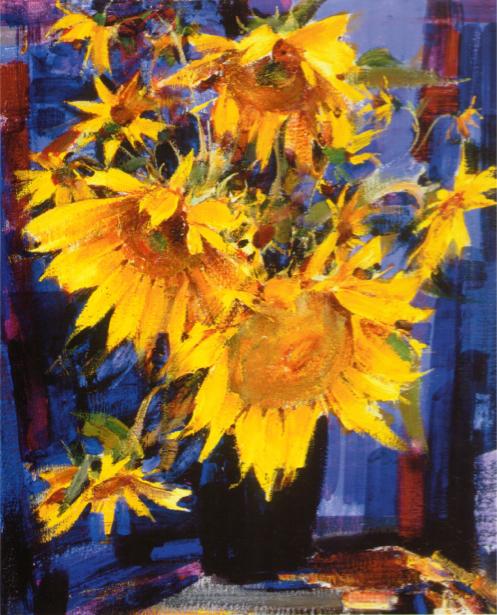 фото картины цветы Натюрморт с подсолнухами (art-0000348)