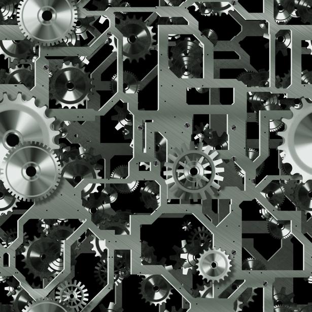 Фотообои часовой механизм механика (background-0000341)