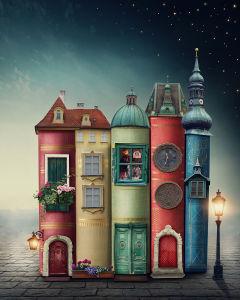 Фотообои книжные дома (child-452)
