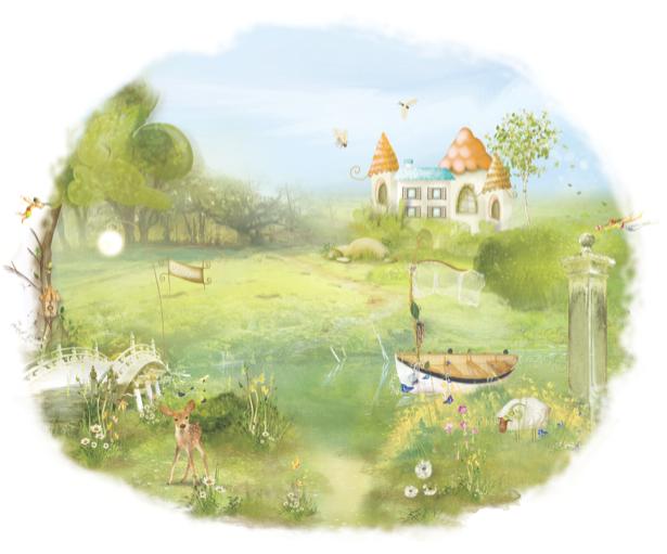 Детские фотообои Сельский пейзаж (children-0000108)