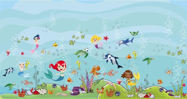 Детские фотообои морская тема (children-0000197)