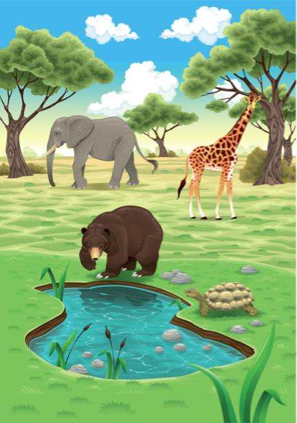 Фотообои детские животные зоопарка (children-0000260)