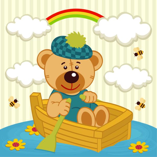 Мишка Тедди детские фотообои (children-0000297)