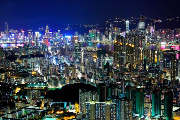 Фотообои Гонконг, здания, город (city-0000198)