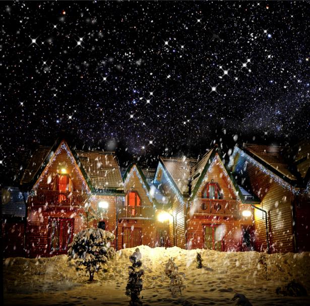 Рождественский домики Фотообои (city-0000692)
