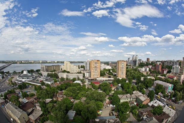 Фотообои Днепропетровск дома Украина (city-0000869)